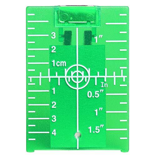 Huepar TP01G Grüne Laser Zielscheibe, Magnetische Laser Zieltafel mit Reflektoren, mit einer Grünem Kreuzlinienlaser Verwendet Werden, für eine Verbesserung der Grünem Laser-Sichtbarkeit