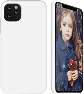 GKK CASE - for iPhone 11 / iPhone 11 Pro/iPhone 11 Pro max Case - Liquid Silicone Cover + Soft Flannel Lining + All-Inclusive Protection (White, 5.8)
