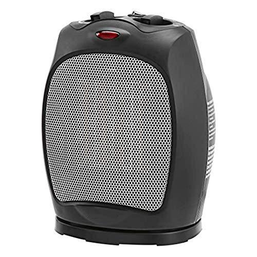 Chauffage, 1500W Oscillant Radiateur céramique Portable avec Thermostat réglable, Noir