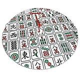 Allgobee 36' Christmas Tree Skirt Mahjong China Culture Hipster Xmas Party Holiday Decoration