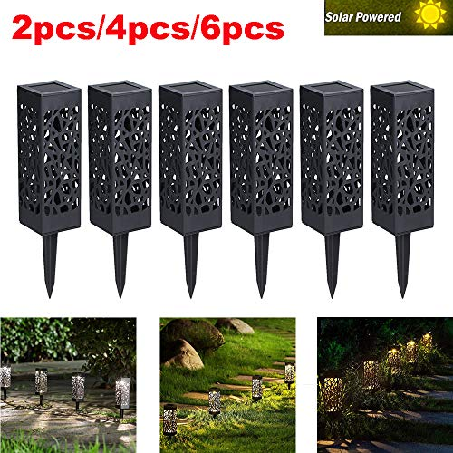 2pcs LED Solarlampe Solarleuchte Gartenbeleuchtung Outdoor Edelstahl Solar IP65