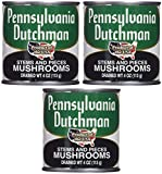 Pennsylvania Dutchman Canned Mushrooms - 12/4 oz. cans Pack of 3