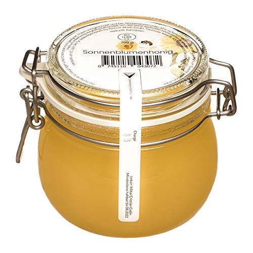 Sonnenblumenhonig 700g aus eigener Imkerei | Naturbelassener Honig | Purer Honig