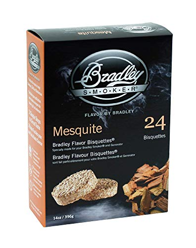 Bradley Smoker BTMQ24 Mesquite Flavored Banquettes Smokers 24Pack Beverages