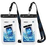 Mpow - Pochette Étanche Smartphone IPX8, Plongée Sac Étanche Haut Transparent Touche-Sensible jusqu'à 6.8 Pouces pour iPhone SE/11/iPhoneXR/XS/X/8/7, Mate 20/P30/P20/P10, Galaxy S9/S8/7/6 - Lot de 2