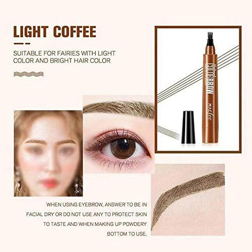 Wenkbrauwpotlood Waterproof Ink Gel Tint Drawing Eyebrow Pencil met vier tips voor natuurlijk gedefinieerde wenkbrauwen