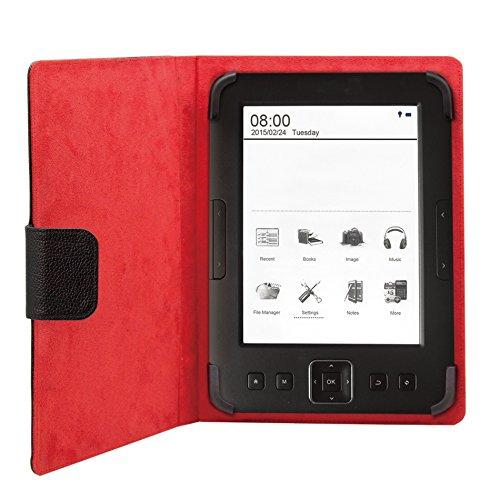 PHEBOOKCASE6+ 6'' SIMIL Piel Funda Universal para Tablet Tipo Libro Phoenix