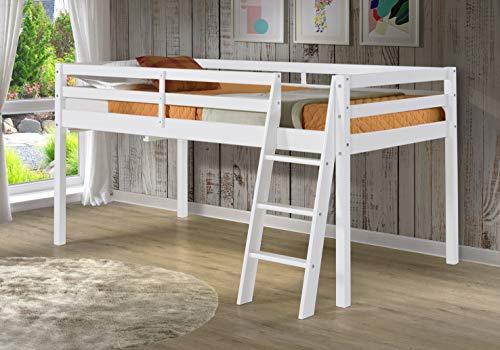 Roxy Twin Wood Junior Loft Bed, White
