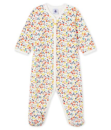 Petit Bateau Dors Bien Y_4997501 Pyjama, Multicolore (Marshmallow/Multico 01), 95 (Taille Fabricant: 12M/74centimeters) Bébé Fille