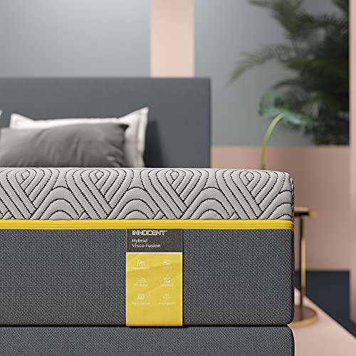 INNOCENT® Visco Hybrid-Tonnen-Taschenfederkernmatratze 90x200cm | H3 mit 450g/m2-Überzug | Höhe 23 cm | Federkernmatratze und waschbarer Bezug | Pocket Mattress