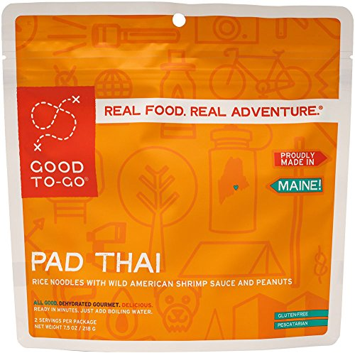 GOOD TO-GO Pad Thai - Double Serving | Dehydrated Backpacking and Camping Food | Lightweight | Easy to Prepare