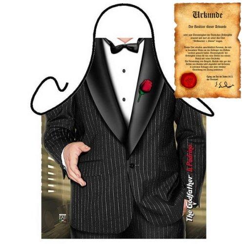 Since 68 Koch und Grillschürze mit Smoking! 007! Godfather/Patron Inklusive Grillurkunde!