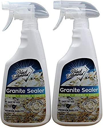 black diamond stoneworks granite sealer seals and protects granite marble travertine limestone and concrete counter tops works great on grout