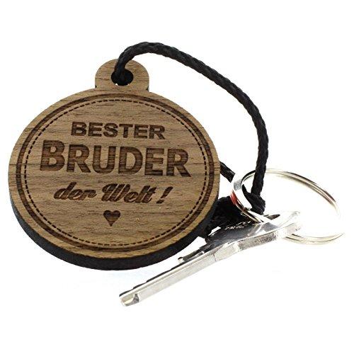 Lieblingsmensch Schlüsselanhänger aus Holz - Modell: Bester Bruder