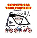U-MOTO 49CC 66CC 80CC 2-Stroke Motorized Bike Gas Tank Frame KIT for Motorized Bicycles