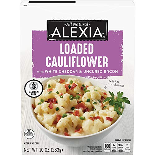 Alexia Frozen Side, Loaded Cauliflower with Aged White Cheddar, Keto Friendly, 10 Ounce