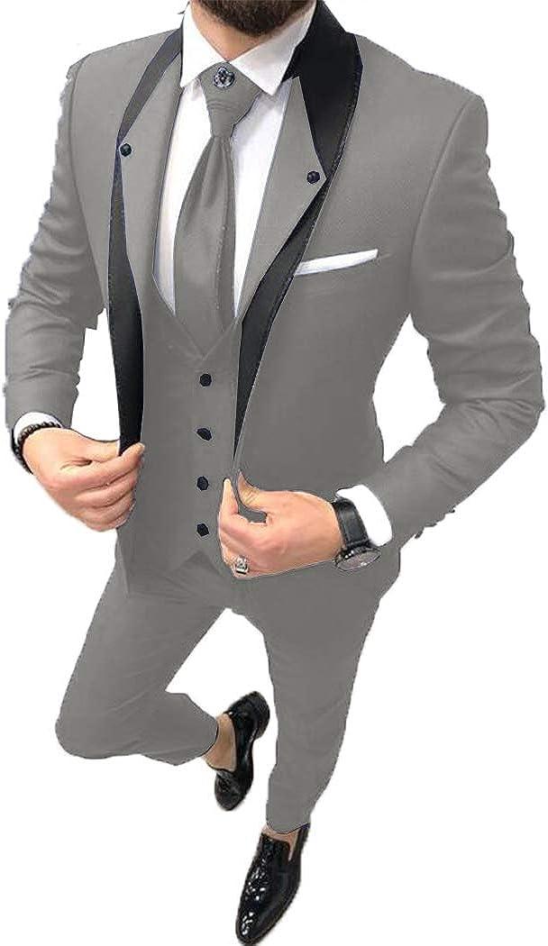 ToonySume Fashion Men's price Business Suits Slim Pieces Tu Prom Fit 3 Ranking TOP2