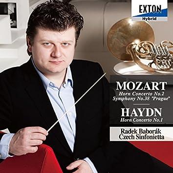 Mozart: Horn Concerto No. 2, Symphony No. 38 Prague, Haydn: Horn Concerto No. 1