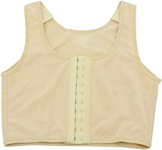 Chest Binder for Women Cosplay 3 Rows Flat Front Hook Tank Compression