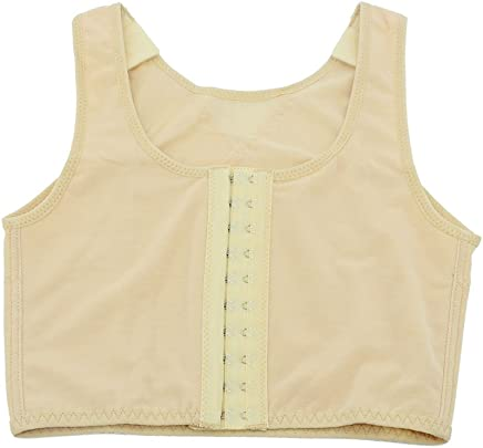 37f38d640d0e TOKYO-T Chest Binder for Women Cosplay 3 Rows Flat Front Hook Tank  Compression Lesbian