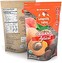2 Organic Dried TURKISH Apricots Unsulphured Premium Quality (10 oz /284 Gram) | Certified | Sun Dried | No Sugar Added | Non GMO | Raw Vegan Healthy Snack | Great Taste Of Organic Dried Fruit x2