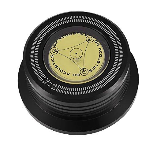 Socobeta Disco Giratorio de Peso Giratorio Disco Giratorio de 50 Hz Abrazadera estabilizadora de Registro de Disco con Nivel de Burbuja para Reproductor de Discos de Vinilo LP(Negro) 🔥