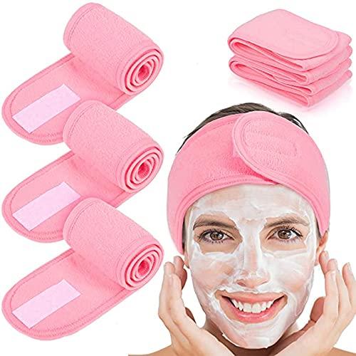 Bandeau Velcro antidérapant en microfibre pour maquillage, spa, cosmétique, protection des cheveux