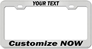 Chrome Personalized Custom License Plate Frame Tag Holder