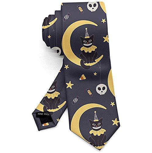 Trick of behandelen pompoen vleermuizen heksen mannen Necktie Fashion Tie voor pak College Festival