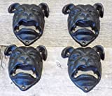 4 Bull Dog Pit Bull Cast Iron Open Mouth Wall Mounted Bottle Opener Bar Openers