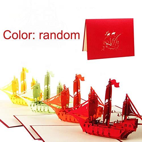 Ankunlunbai - Tarjeta felicitación 3D diseño barco