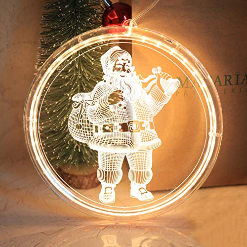 VLUNT Led String Lamp Single 3D Hanging Lamp Home Decor Modeling Holiday Layout Window Christmas Light for Living Room Indoor Lighting