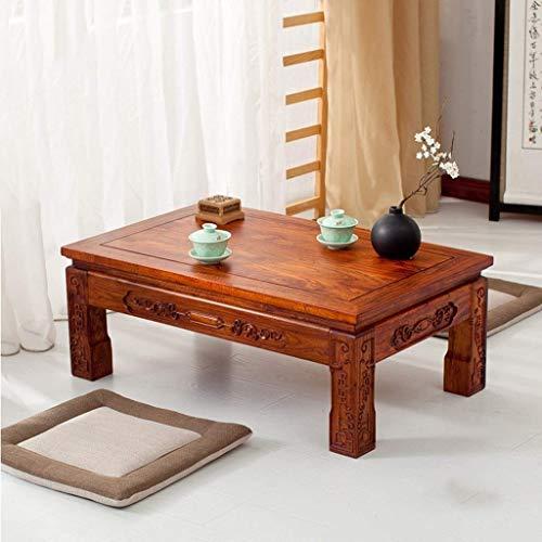 Goede Tv staande lamp telefoontafel sofa bijzettafel eiken tafel koffietafel woonkamermeubels tafel massief tafel computertafel multifunctionele tatami tafel bedtafel hoog belastbaar (kleur: zwart, afmetingen: 30 * 40 * 60 cm hout