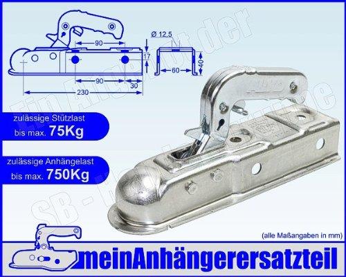 AL-KO ALKO Zugkugelkupplung AK 7 Ausf. E Zugkupplung AK7-E Vierkant 60mm 750 kg 1224743