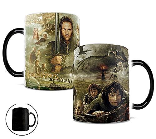 heshuqiaoFC Creativo Il Signore degli Anelli Tazza Van Gogh Cambia Colore Tazza in Ceramica con Marchio di caffè-B