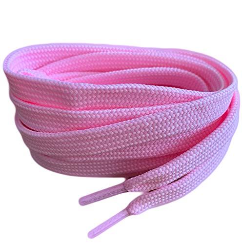 Pimp My Shoes Pale Pink Farbige Flach Schnürsenkel für Turnschuhe Skate Schuhe, Hi Tops, Schuhe Stiefel Converse Nike Converse Puma Schnürsenkel Schnürsenkel sind 10mm breit Pink Pale Pink Baby Pink