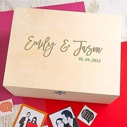 Personalized Keepsake Box/Memory Box for Couples/Wedding Anniversary Gift/Engraved Couple Gifts/Wedding Keepsake Box