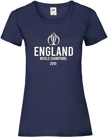 England Cricket World Cup Winners 2019 Logo Design T-Shirt Ladies Sky