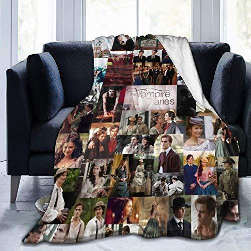 Vam-pire Diar-ies Flanell-Fleece-Überwurf, Decke, leicht, weich, Heimdekoration, warme Decke für Couch, Bett, Sofa, alle Jahreszeiten, 152,4 x 50 cm
