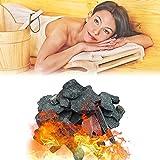 YHWD Piedra de Sauna 16-18 kg / 35-40 LB, Piedra volcánica de Sauna Piedra calefactora de Sauna para Cuencos de Fuego, fogatas y chimeneas de Interior o Exterior o Estufa de Sauna