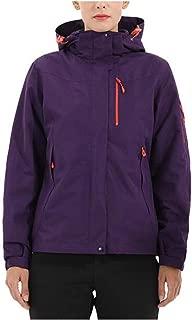 FYXKGLa Women's Outdoor Sports Jacket Three-in-one Warm Mountaineering Jacket Waterproof Jacket (Color : Purple, Size : L)