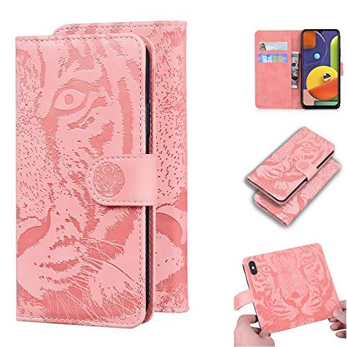 TTUDR Galaxy A50 / A50S / A30S Premium Leder Flip Schutzhülle [Standfunktion] [Kartenfächer] [Magnetverschluss] lederhülle klapphülle für Samsung Galaxy A50 - TTTX020163 Rosa Gold