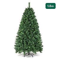 Qualità premium: albero di Natale artificiale, albero naturale in PVC, colore: verde, realizzato in PVC (cloruro di polivinile ignifugo), aghi di pino artificiale di alta qualità, punte totali 580, lunghezza degli aghi: 2,5-5 cm, lunghezza delle punt...