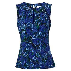 Calvin Klein Damen Pleat Neck Cami Blazer, Business/leger, Mehrfarbig, Groß