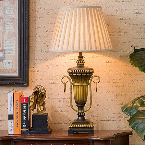 Bonne chose lampe de table Lampe de table de salon Lampe de table rétro Lampe de résine européenne Lampe de fer Chambre à coucher Lampes décoratives