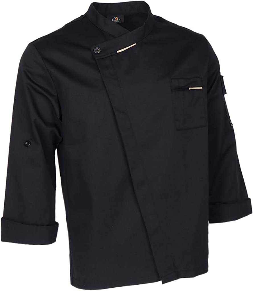dailymall Miami Mall Unisex Chef Jackets Coat Shirt Wai Store Sleeves Waiter Long