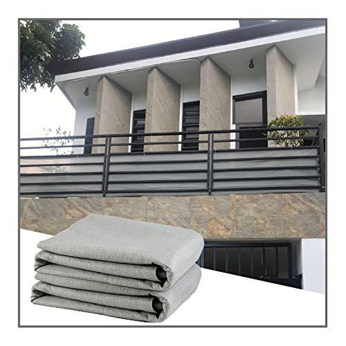 QIANGDA Malla Sombra De Red, Gris Pantalla De Privacidad con Ojales 85% Resistente A Los Rayos UV Prar Exterior Patio Interior Jardín, Tamaño Personalizado (Color : Gray, Size : 2x10m)