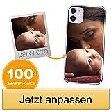 Coverpersonalizzate.it Handyhülle für Apple iPhone 11 mit Foto-, Bildern- oder Text selbst gestalten- Die Handyhülle ist aus weichem durchsichtigem TPU-Silikon-Gel Material