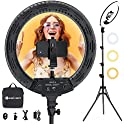 """18"""" LED Selfie Ring Light with Tripod Stand & Tablet/Phone Holder"""