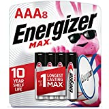 Energizer AAA Batteries, Max Alkaline, (Pack of 8)